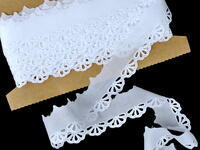 Embroidery lace No. 65022 white | 9,2 m