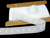 Embroidery lace No. 65114 white | 13,8 m