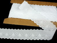 Embroidery lace No. 65119 white | 13,8 m