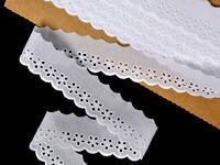 Vyšívaná krajka vzor 65008 bílá | 9,2 m