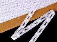 Vyšívaná krajka vzor 65 029 bílá | 9,2 m