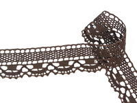 Paličkovaná krajka vzor 75005 tmavě hnědá | 30 m