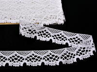 Bobbin lace No. 75022 white | 30 m