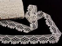 Paličkovaná krajka vzor 75022 slonovinová kost | 30 m
