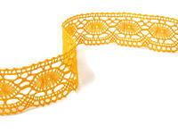 Paličkovaná krajka vzor 75032 tmavě žlutá | 30 m