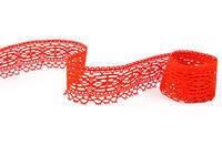 Paličkovaná krajka vzor 75037 červená | 30 m