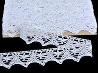 Paličkovaná krajka vzor 75039 bílá | 30 m