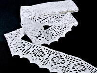 Bobbin lace No. 75059 white | 30 m