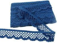 Paličkovaná krajka vzor 75067 mořská modrá | 30 m