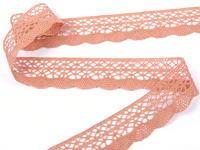 Bobbin lace No. 75077 salmon pink | 30 m