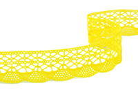 Paličkovaná krajka vzor 75077 žlutá| 30 m