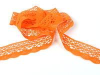 Paličkovaná krajka vzor 75077 sytě oranžová | 30 m