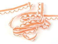 Paličkovaná krajka vzor 75079 bílá/sytě oranžová   30 m