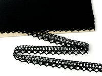 Bobbin lace No. 75087 black | 30 m