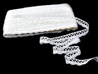 Bobbin lace No. 75428/75099 white | 30 m