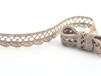 Bobbin lace No. 75428/75099 dark linen | 30 m