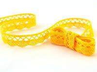 Paličkovaná krajka vzor 75428/75099 žlutá | 30 m