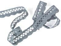 Bobbin lace No. 75428/75099 grey | 30 m