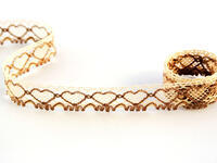 Bobbin lace No. 75133 beige/dark beige | 30 m