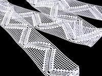 Paličkovaná vsadka vzor 75141 bílá | 30 m