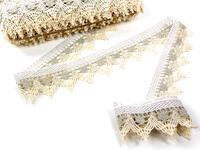 Bobbin lace No. 75145 light linen/white/ecru | 30 m