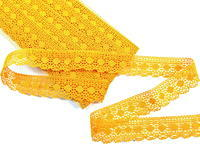Paličkovaná krajka vzor 75184 tmavě žlutá  |30 m