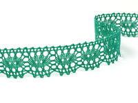 Paličkovaná krajka vzor 75187 světle zelená | 30 m