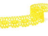 Bobbin lace No. 75187 yellow | 30 m