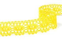 Paličkovaná krajka vzor 75187 žlutá | 30 m