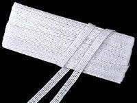 Paličkovaná vsadka vzor 75212 bílá | 30 m