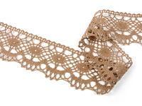 Bobbin lace No. 75238 dark beige | 30 m