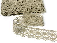 Bobbin lace No. 75238 natural linen | 30 m