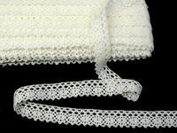 Bobbin lace No. 75239 toned white | 30 m