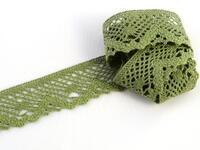 Paličkovaná krajka vzor 75261 zelená olivová | 30 m