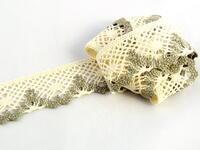 Bobbin lace No. 75261 ecru/dark linen | 30 m
