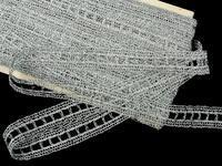 Paličkovaná vsadka vzor 75281 stříbrná | 30 m