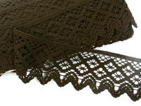 Bobbin lace No. 75293 dark brown | 30 m
