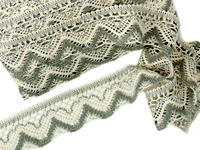 Bobbin lace No. 75301 ecru/dark linen | 30 m