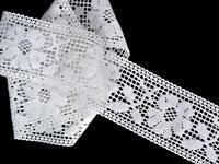 Paličkovaná vsadka vzor 75314 bílá | 30 m