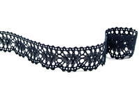 Bobbin lace No. 75394 black | 30 m