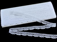 Bobbin lace No. 75413 white | 30 m