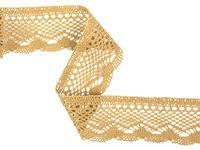 Bobbin lace No. 75414  khaki | 30 m