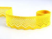 Paličkovaná krajka vzor 75414 žlutá | 30 m