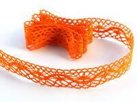 Paličkovaná krajka vzor 75416 sytě oranžová | 30 m