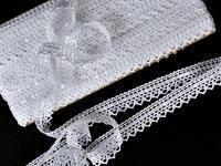 Bobbin lace No. 75445 white | 30 m