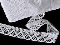 Bobbin lace No. 75453 white | 30 m