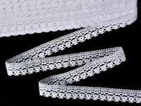 Paličkovaná krajka vzor 75499 bílá | 30 m
