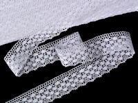 Paličkovaná krajka vzor 75550 bílá | 30 m