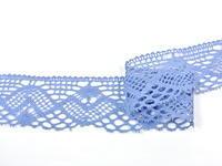 Paličkovaná krajka vzor 75572 blankytně modrá | 30 m