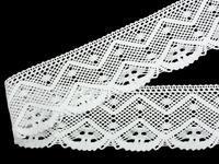 Paličkovaná krajka vzor 75635 bílá | 30 m